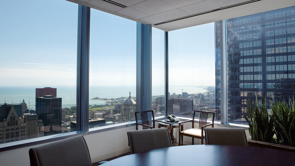 View Of Chicago From Office Space Within 111 South Wacker.