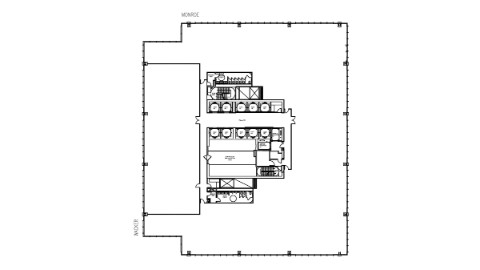 Floor plan of 31st floor office space at 111 South Wacker, Chicago.