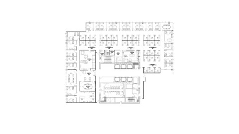 Office space plans Collaborative Floor Plan Of 47th Floor Office Space Conklin Office Furniture Available Office Space In Chicago 111south Wacker