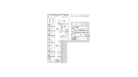 Floor plan of 33rd floor office space at 111 South Wacker, Chicago.