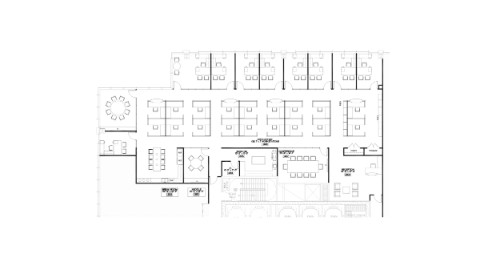 Floor plan of 39th floor spec office at 111 South Wacker, Chicago.